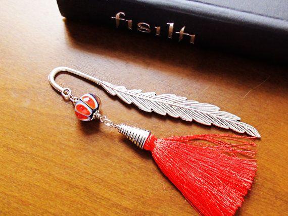 Bookmark Handmade Bookmark Beaded Bookmark by GlassHouseLampwork, $15.00