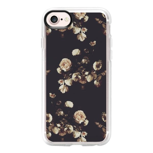 Antique Floral - iPhone 7 Case And Cover ($40) ❤ liked on Polyvore featuring accessories, tech accessories, phone cases, phone, iphone case, iphone cover case, floral iphone case, clear floral iphone case, iphone cases and clear iphone case
