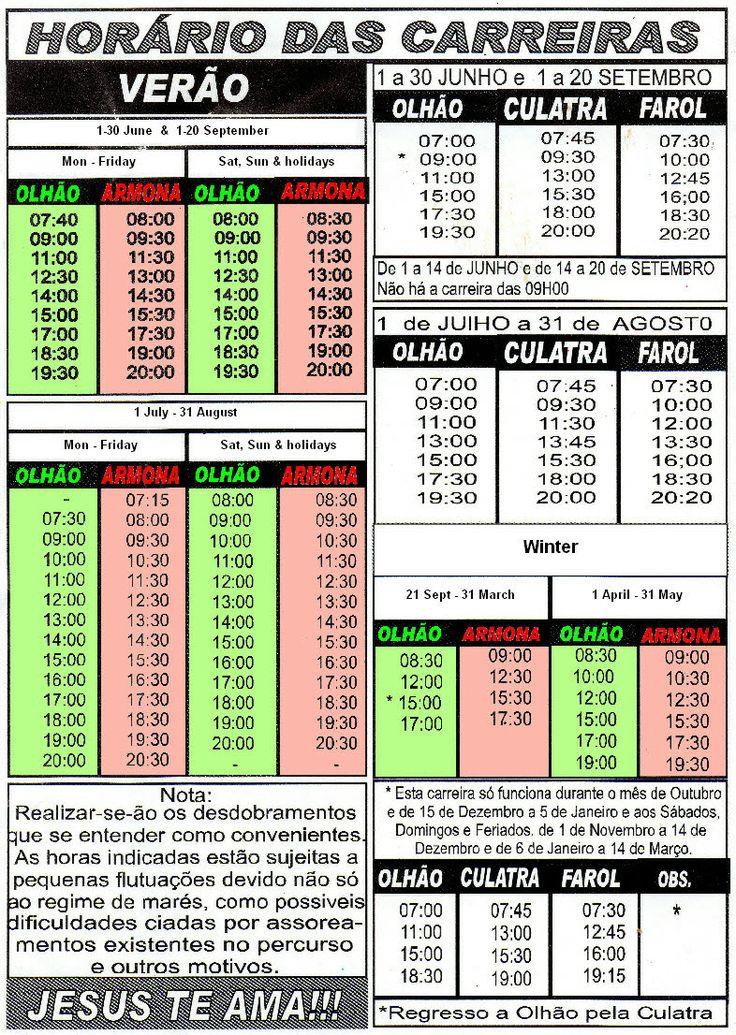 Armona ferry timetable
