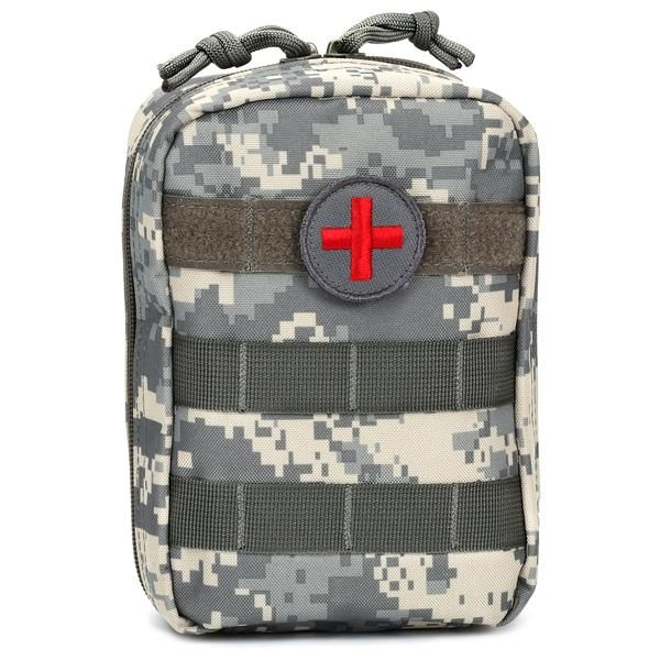MOLLE EMT Medical First Aid Utility Pouch - ACU Orca Tactical Gear  The Orca Tactical MOLLE EMT Military Medical Pouch is the latest design in military grade tactical first aid gear. Constructed from 600 Denier PVC Polyester, our medical pouches are built to withstand the toughest outdoor conditions. It features a front side to side MOLLE webbing at the top so you can attach a first aid patch and any other identification or decorative patch at the same time. A first aid patch is included…