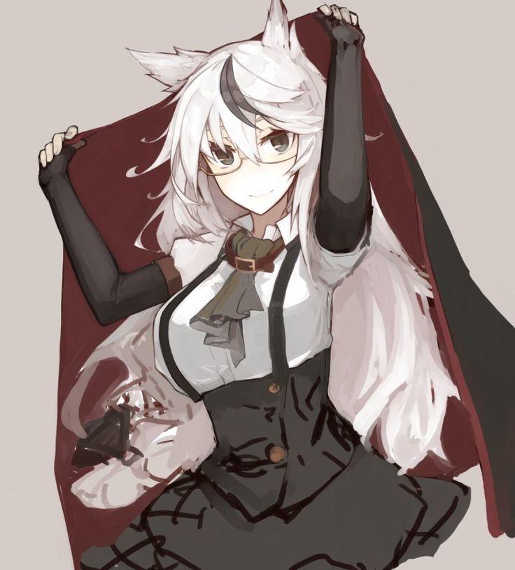 anime girls - white silver