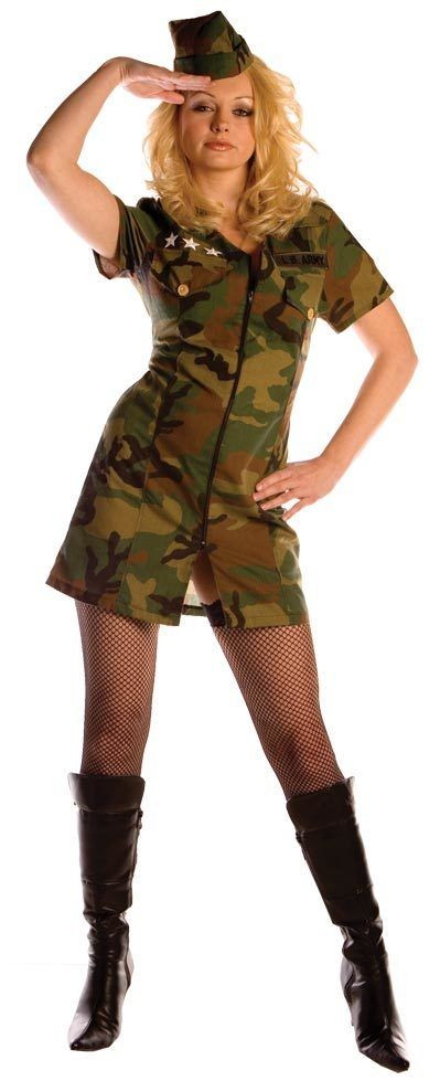 Womens Surrender Sexy Army Costume