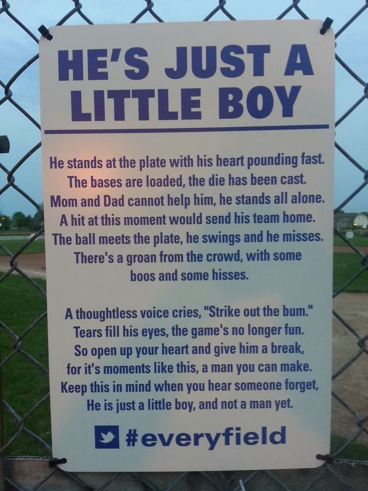 baseball field signs | Sign found on a youth baseball field. I hope they leave it up. - Imgur