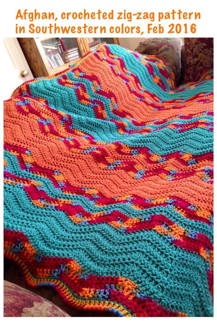 Crochet Pattern Southwestern Afghan : 141 best images about My Knitted and Crocheted Projects on ...