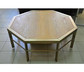 стол восьмиугольный из латуни