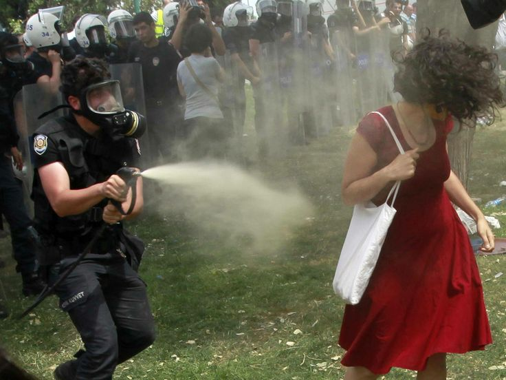 thk:  In Tunisia, a man burning himself was the symbol of the Arab Spring and now in Turkey, a woman in red being pepper spray has become the symbol of protest. Oppressions, despotism, nepotism , and brutality can spark a new revolution.