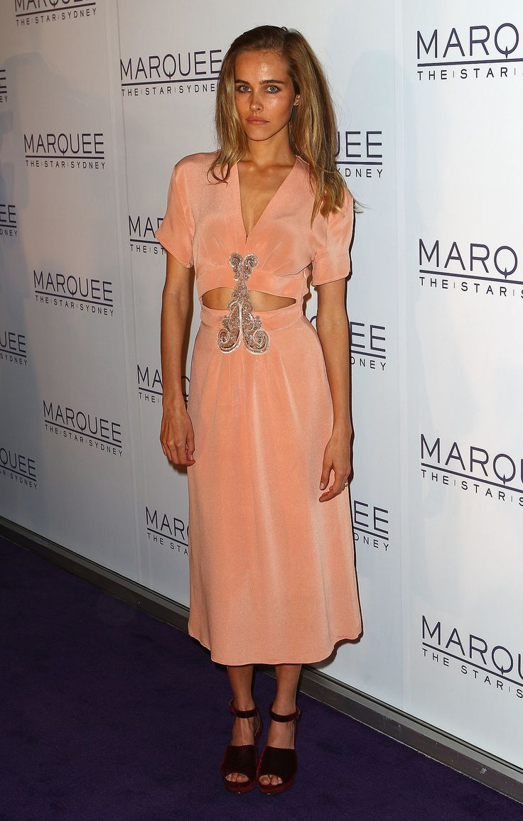 Isabel Lucas: Marquee at the Star Opening, 2012.