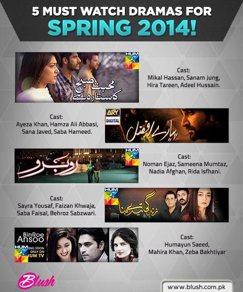 5 Must Watch Pakistani Dramas for 2014!