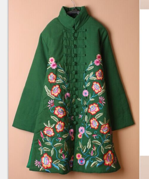 Winter Tang suit warm embroidery outwear