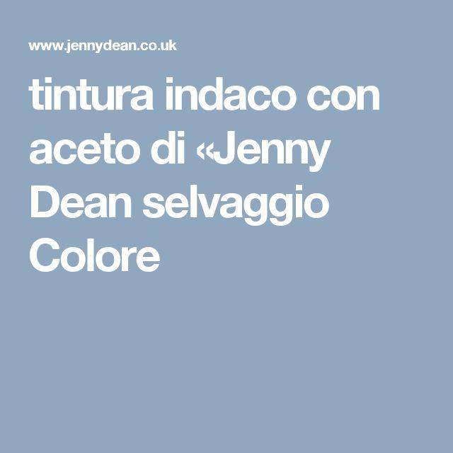 tintura indaco con aceto di «Jenny Dean selvaggio Colore