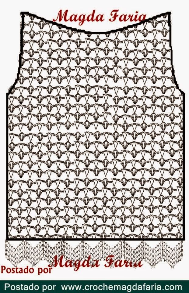 Edna Confecções em Crochê : Blusa Com Flores. P.a.p e gráfico (Magda Faria)