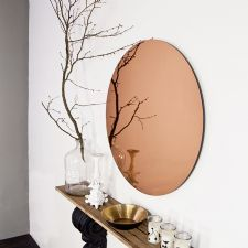 Large Round Copper Mirror
