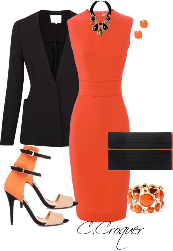 Black dress red shoes what color nails with orange