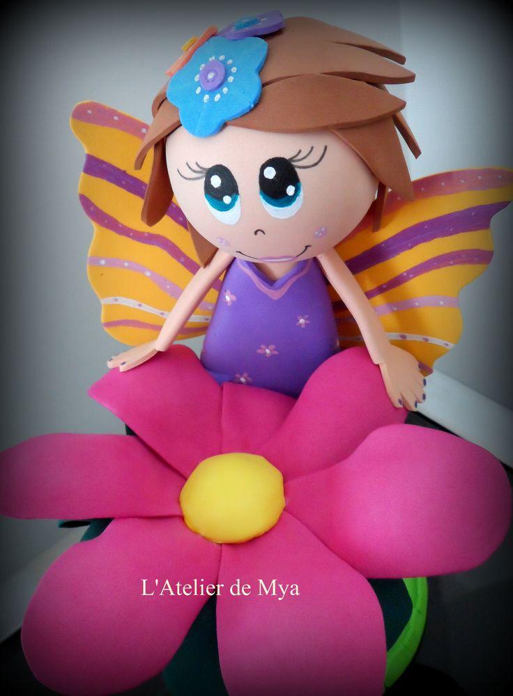 fofucha Hada de las Flores https://www.facebook.com/MyaAtelier