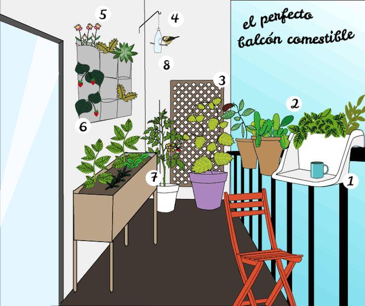 14 best huerto urbano images on pinterest easy crafts - Huerto urbano balcon ...