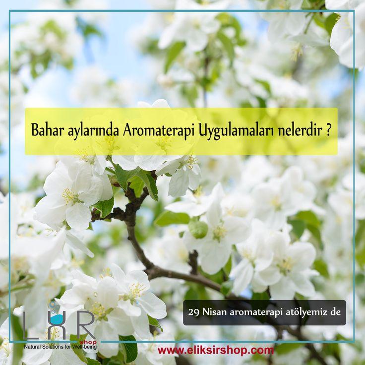 Bahar aylarında Aromaterapi Uygulamaları nelerdir ?  29 nisan aromaterapi atölyemiz de... Doğanın uyanışı olarak kabul edilen İlkbahar mevsimi için, ülkemiz doğal kozmetik ve aromaterapi bitkilerinin en fazla bulunduğu ülkedir . ülkemizin farklı bölgelerinden toplanılan doğal ürünler ile neler yapılabileceğini atölye çalışmamızda öğreneceksiniz.