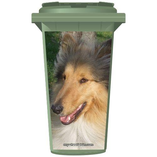 Lassie Collie Dog Wheelie Bin Sticker Panel