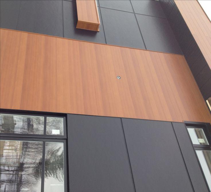 Acier harry wood c dre panneau de fibrociment noir for Panneau exterieur occultant