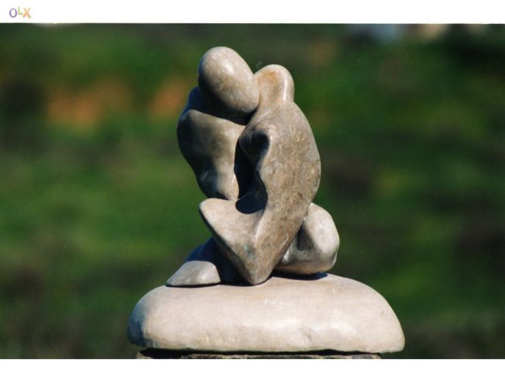 Escultura em Pedra - Título: Os amantes 2