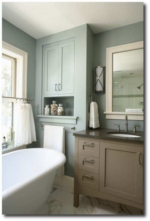 17 best images about small bathroom remodel ideas on - Benjamin moore aura interior paint ...