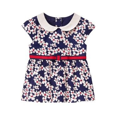 Baby Girl Navy Bloom Bloom Collar Top at JanieandJack