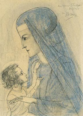 Jan Toorop, Madonna and child - Not dated