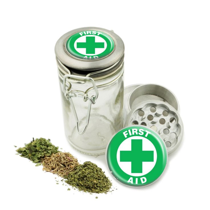 """First Aid Symbol Grinder and Wire top Glass Jar Combo! 4 Part Aluminum 1.5"""" Grinder for Herbs Spice Herbal Green Greens w/ Free Jar Labels by Swagstr on Etsy"""