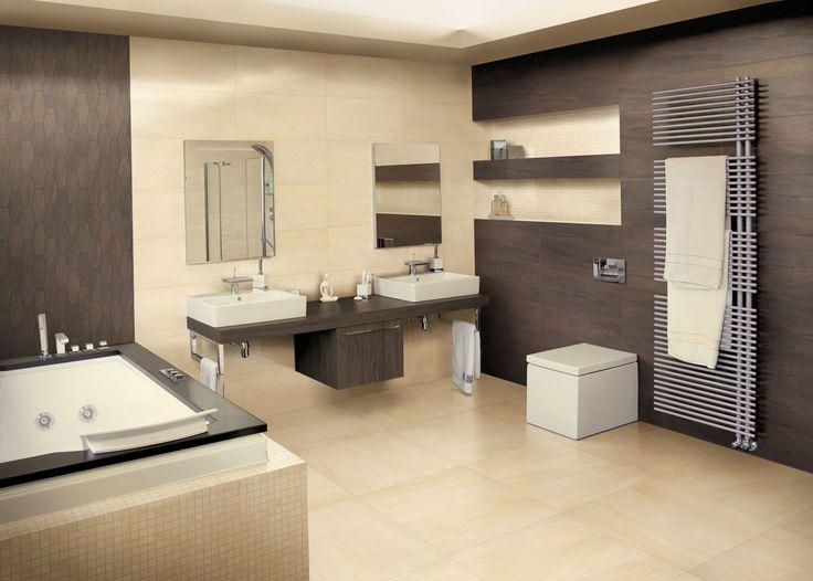 Badkamer met kalksteen look tegels 60x60 en 30x60 tegels 17 tegelhuys tegelhuys badkamer - Mooie eigentijdse badkamer ...
