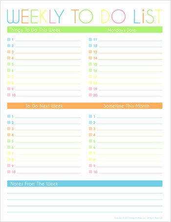 91 best Printable To Do List images on Pinterest Homes, Paper - printable list template