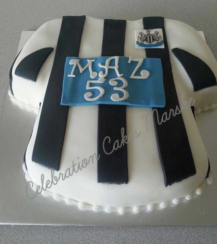 Newcastle United football shirt # www.celebrationcakesmarske.co.uk