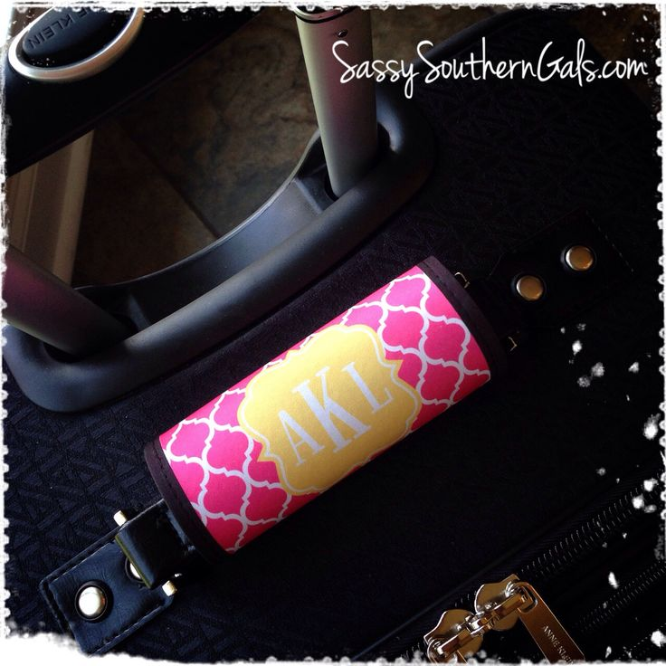New to SassySouthernGals on Etsy: Monogram Luggage Tag Luggage Tag Personalized Monogrammed Luggage Tag Handle Wrap Monogrammed Gift Design Your Own (20.00 USD)