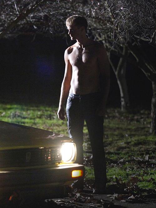 Alexander Skarsgard shirtless from my favorite season - enough said. True Blood.