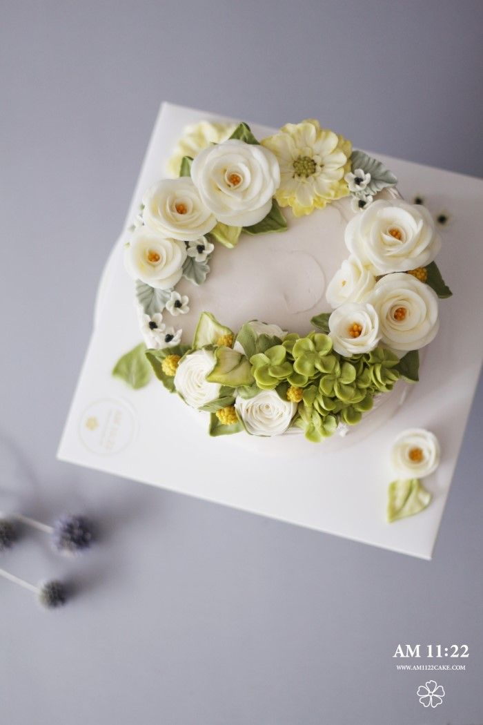 เค้ก Camellia ดอกไม้กับเค้กวันเกิดครีมเนย _ ยาย: Naver บล็อก