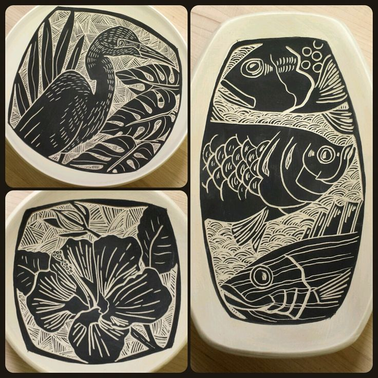 Laurie Landry Sgraffito 2015 www.laurielandrypottery.com