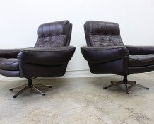 Pair of Scandinavian Swivel Lounge Chairs - The Vintage Shop
