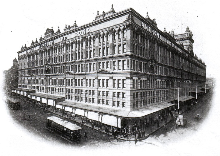 The former building on the current site of Sydney World Square - Anthony Hordern & Sons department store, Sydney, NSW, Australia