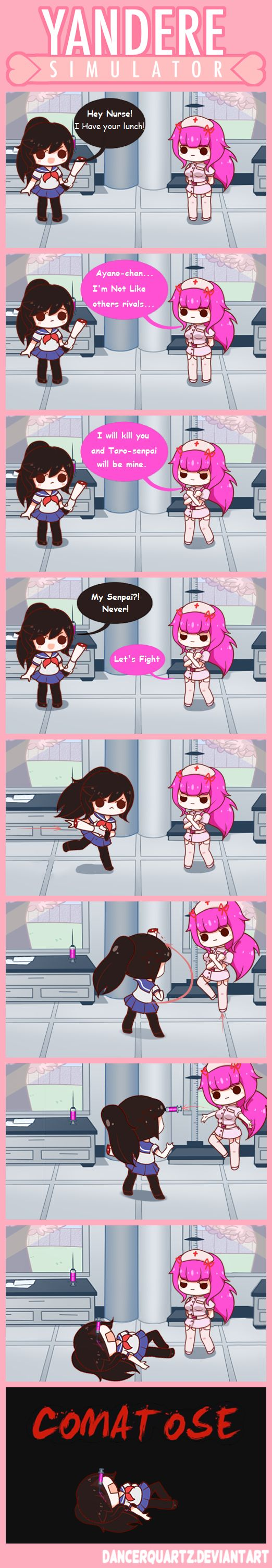 Yandere Comic - Yandere-chan VS The Nurse by DancerQuartz on DeviantArt