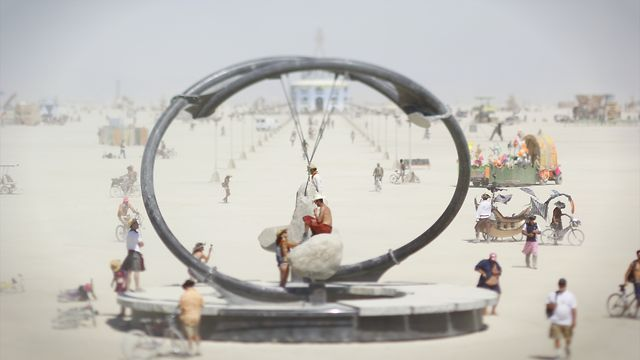 Time lapse of Burning Man 2012
