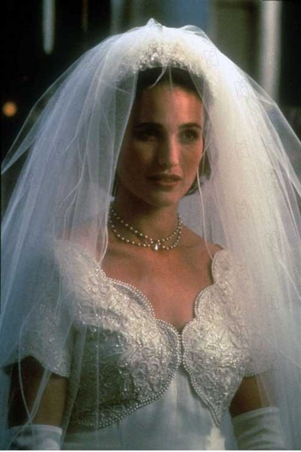Andie MacDowell Wedding Dresses And The Silver Screen Movies In Mike Newells 1994 Movie Four Weddings A Funeral