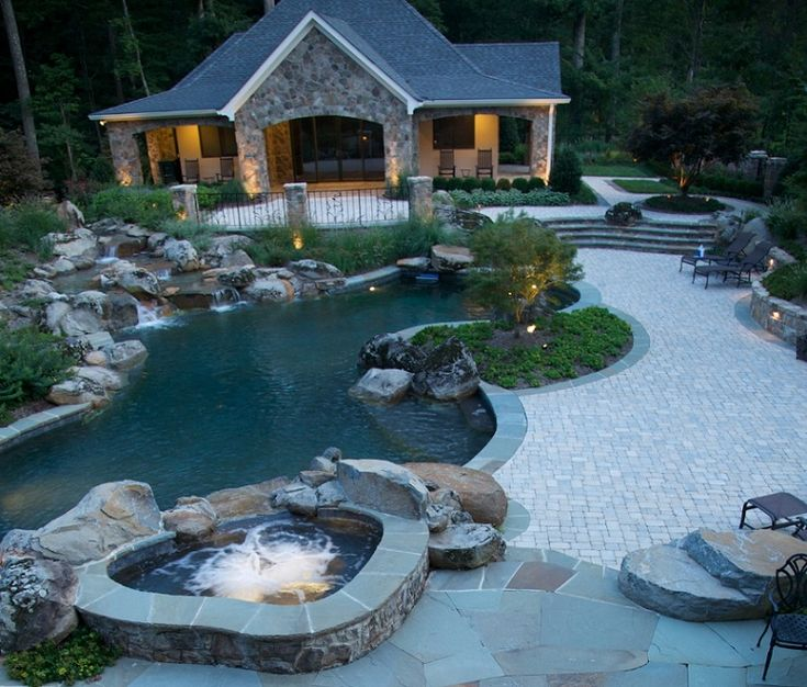 117 best awesome pools images on pinterest dream pools for Country pool ideas