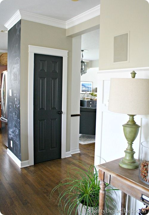 black interior doors with white trim what a great look thrifty decor chick best thrifty tips paint trim