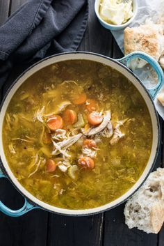 Making Homemade Turkey Soup after your Thanksgiving or Christmas dinner is super easy and a delicious way to use all the leftovers. This is the basic, easy homemade turkey soup recipe you remember your mom making. It's delicious! | theendlessmeal.com