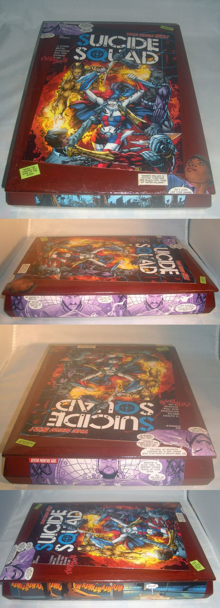 Other Jewelry Organizers 164372: Suicide Squad Comic Book Recycled Wooden Cigar Box BUY IT NOW ONLY: $48.0