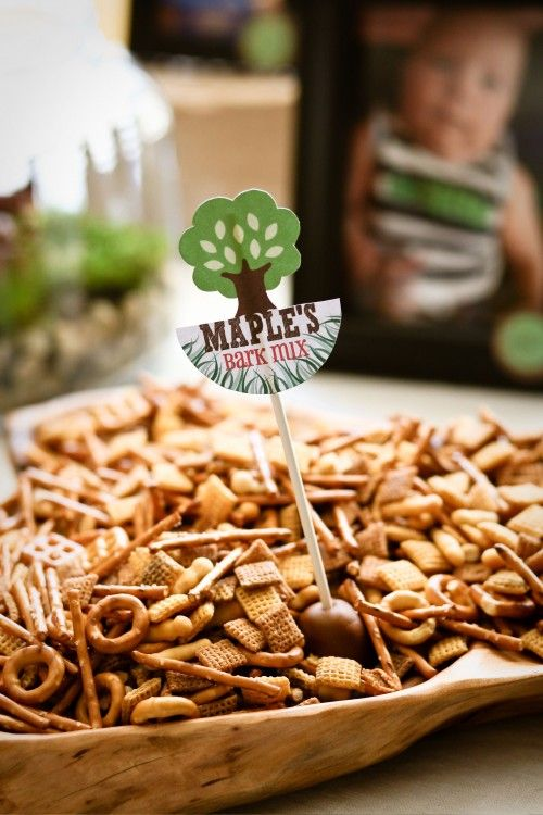Trail Mix serving option two . . . have the Create A Critter cartridge to make this label . . .