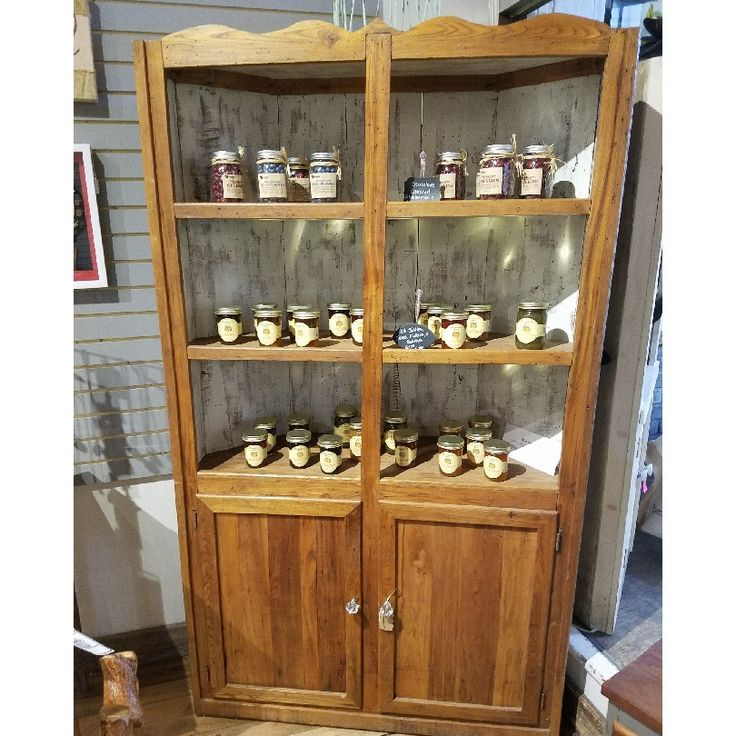 Check out this beautiful wormy chestnut corner cabinet ... on Corner Sconce Shelf Cabinet id=44145