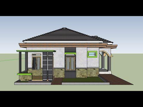 contoh perpaduan model desain rumah mewah minimalis 8 x 10