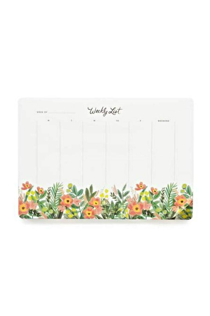 Our Weekly Desk Pad includes 52 tear-off sheets to help you map out your week for a year. It's the perfect size to keep on your desk as a mouse pad and see your week at a glance.    Format: 6.75 x 9.75'' desk pad Material: Warm white text paper Page Count: 52   Weekly Desk Planner by Rifle Paper Co. . Home & Gifts - Gifts - Stationery & Office Canada