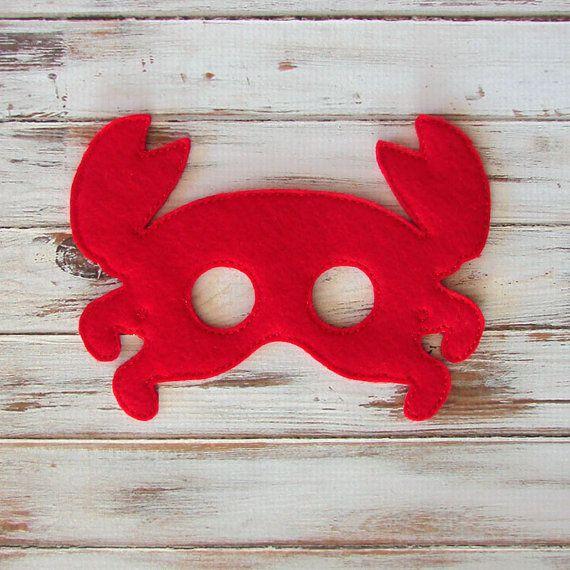 Bajo el mar rojo cangrejo niños máscara de por AnnsCraftHouse
