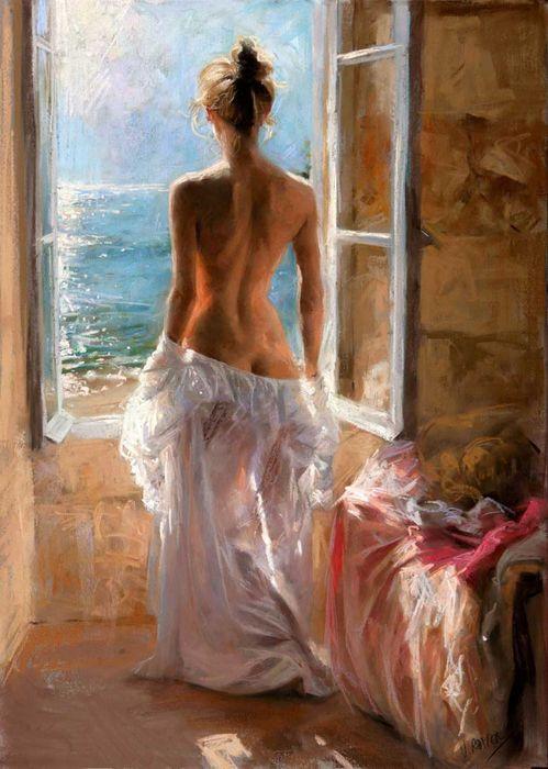 женские образы художник Висенте Ромеро Редондо-