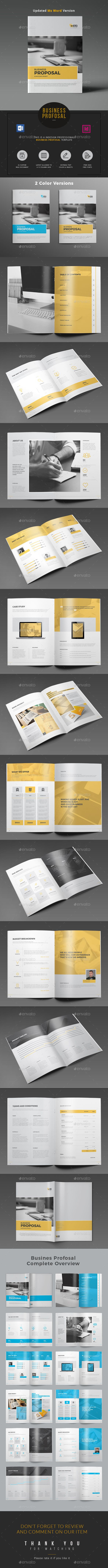 Proposal Word Proposal Template is designed in Adobe InDesign & MS Word. All text, Charts and Tables are fully layered and organized so that you can find out layers easily and change whatever you want. This template design will save your time and effort as well.